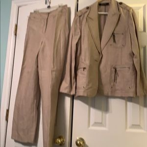 Kasper linen blend pant suit
